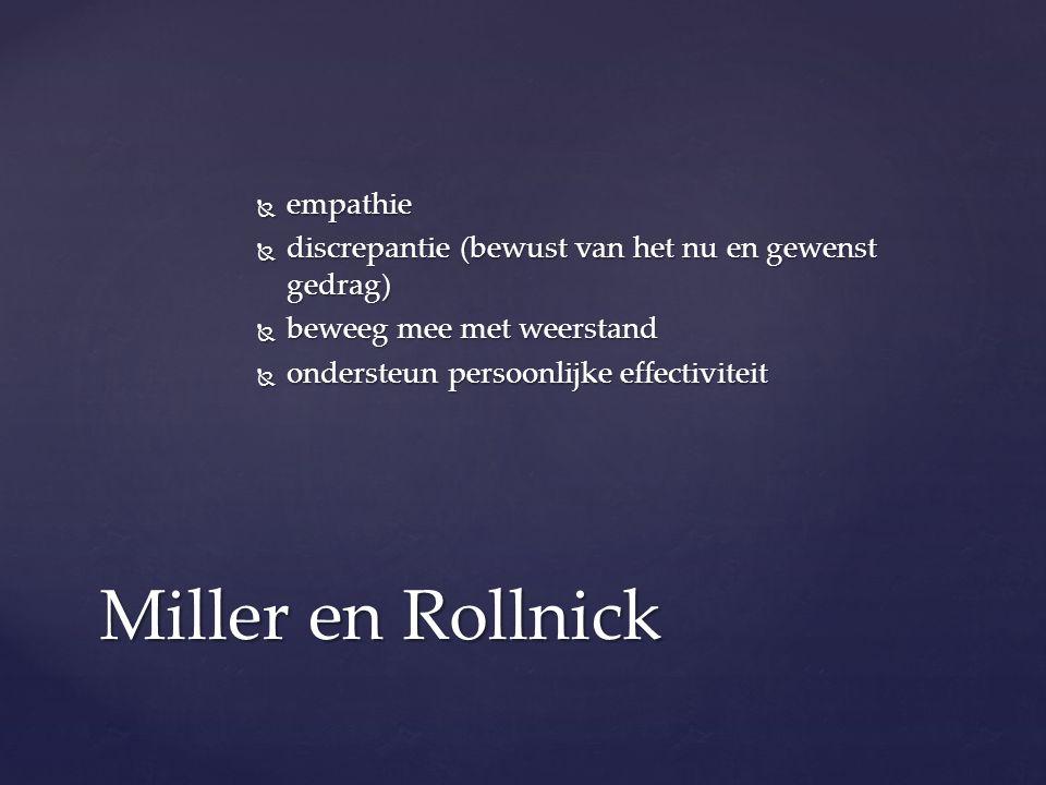 Miller en Rollnick empathie