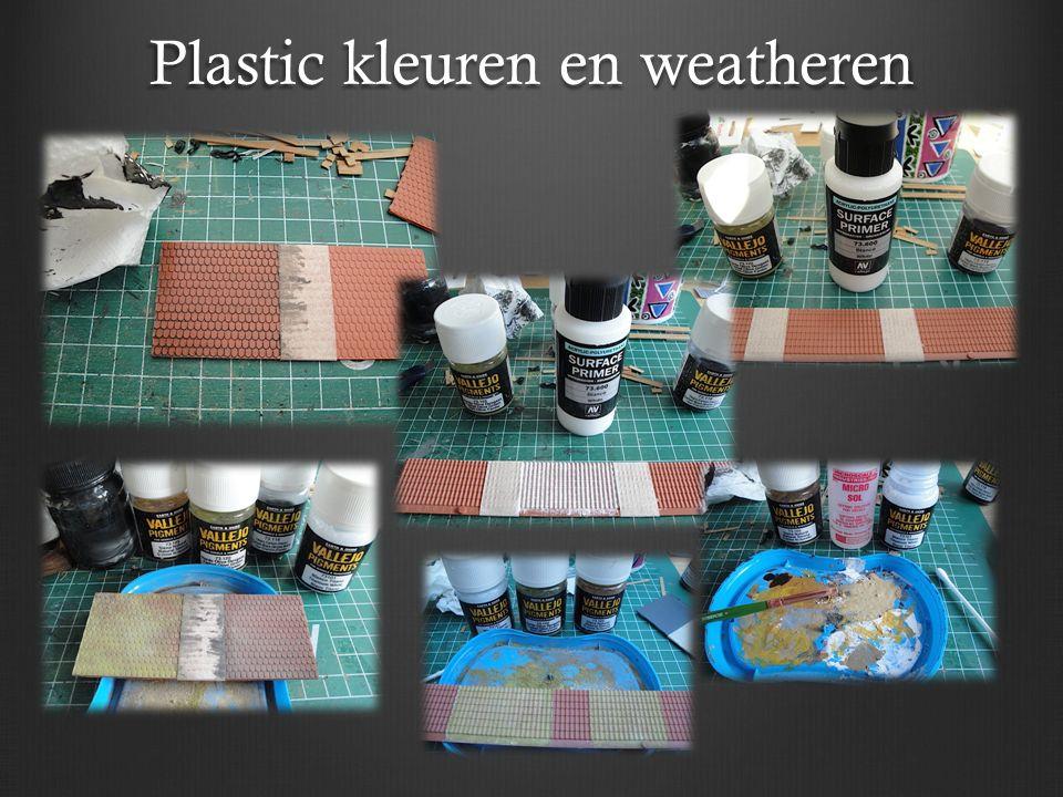 Plastic kleuren en weatheren