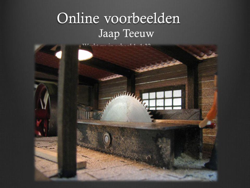 Online voorbeelden Jaap Teeuw Werkt nu in schaal 1 1:32