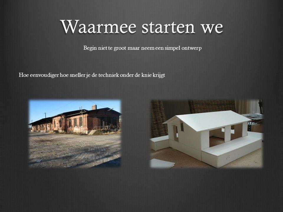 Waarmee starten we Begin niet te groot maar neem een simpel ontwerp