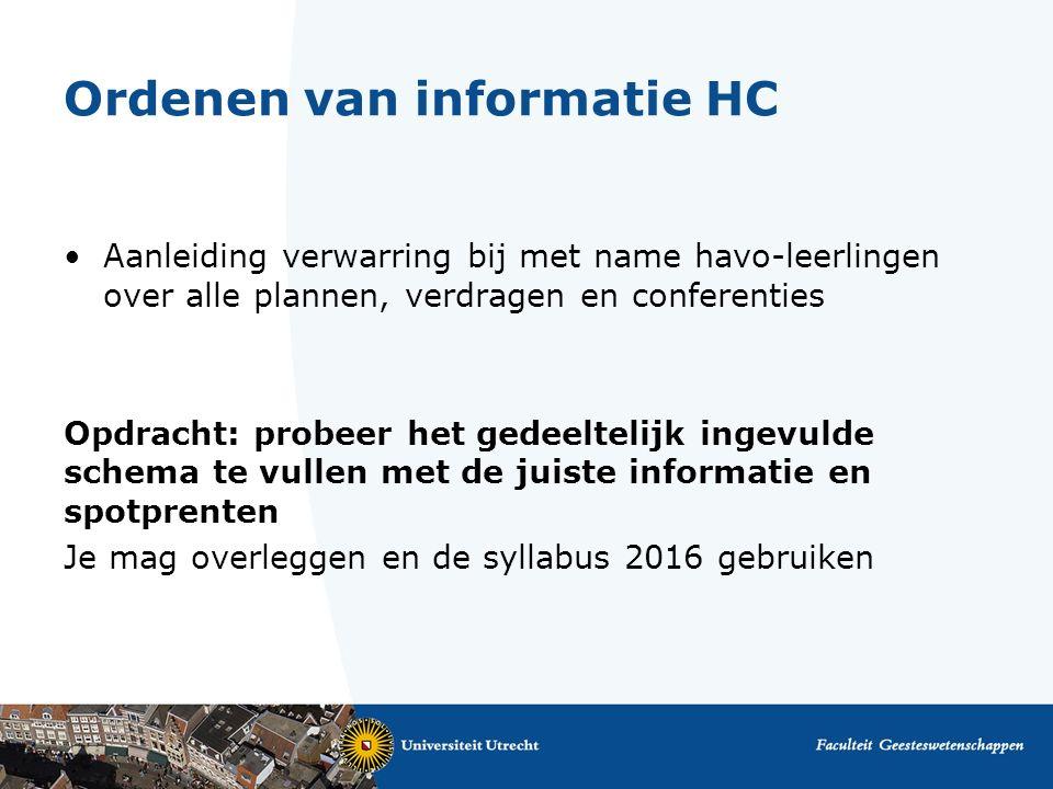 Ordenen van informatie HC