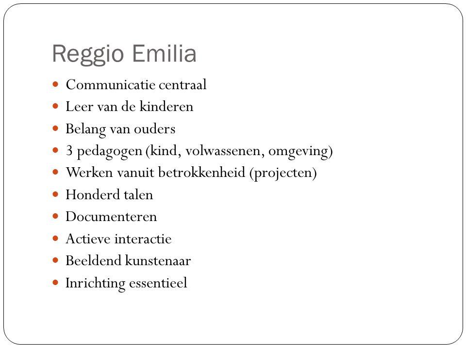 Reggio Emilia Communicatie centraal Leer van de kinderen