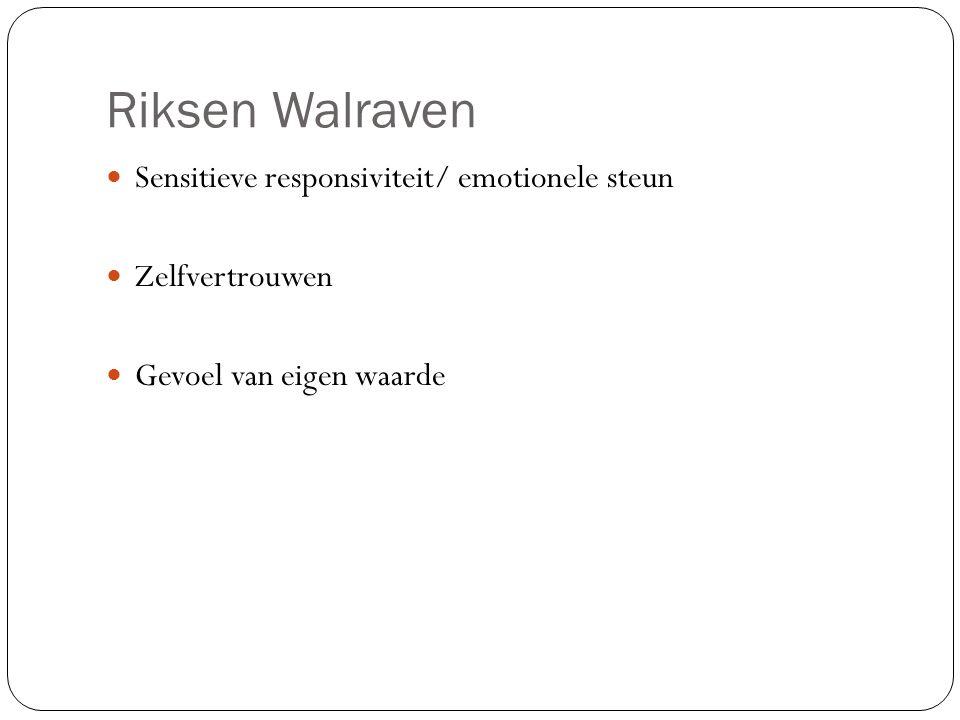 Riksen Walraven Sensitieve responsiviteit/ emotionele steun