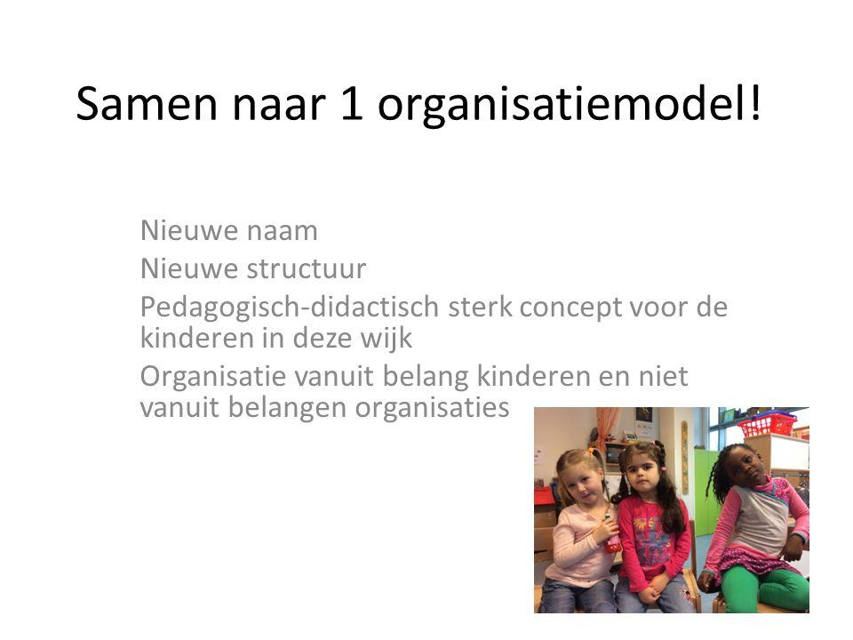 Samen naar 1 organisatiemodel!