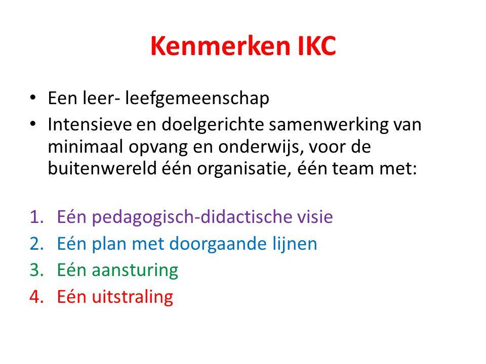 Kenmerken IKC Een leer- leefgemeenschap