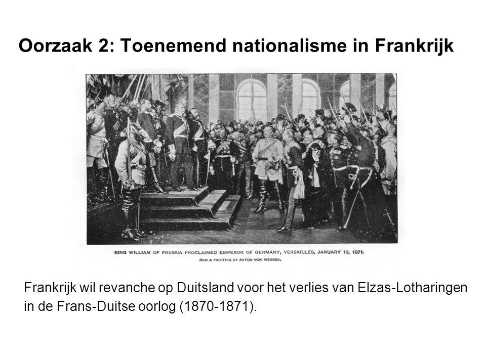Oorzaak 2: Toenemend nationalisme in Frankrijk