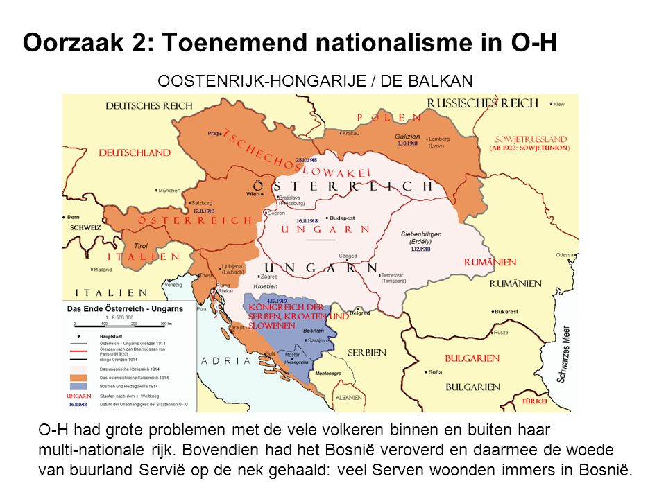Oorzaak 2: Toenemend nationalisme in O-H