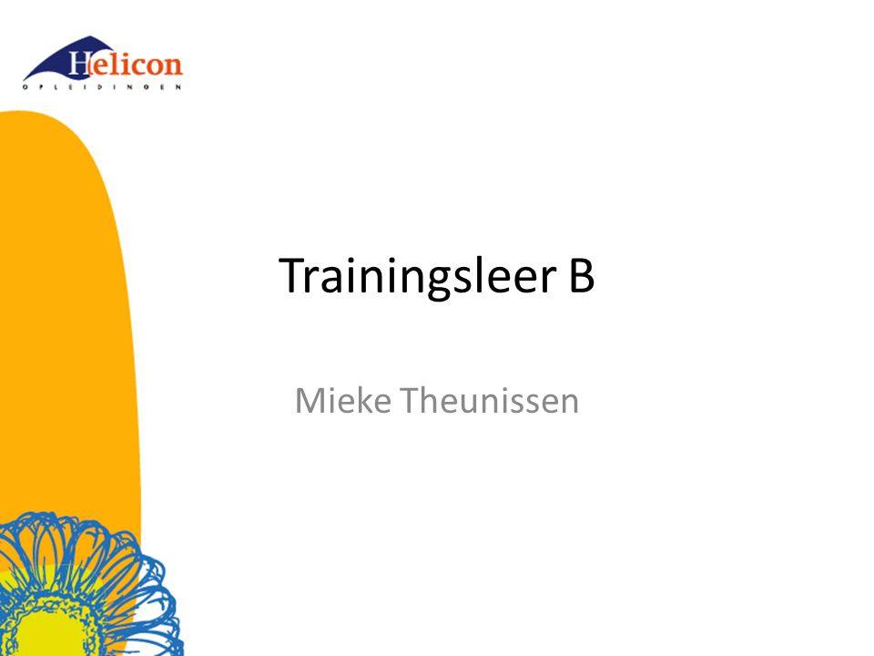 Trainingsleer B Mieke Theunissen