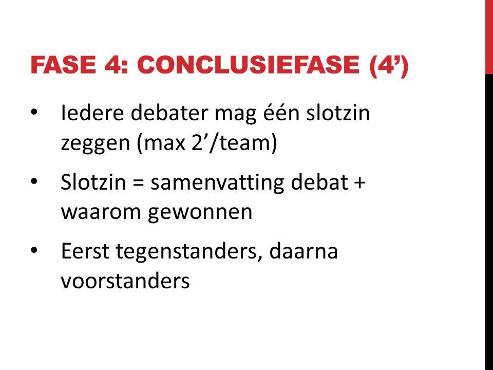 Fase 4: CONCLUSIEFASE (4')