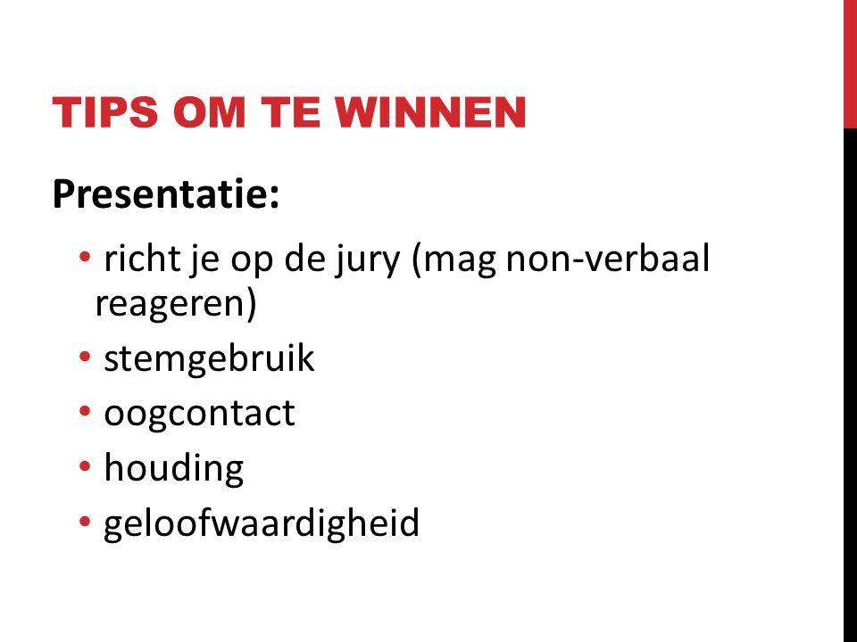 Presentatie: TIPS OM TE WINNEN