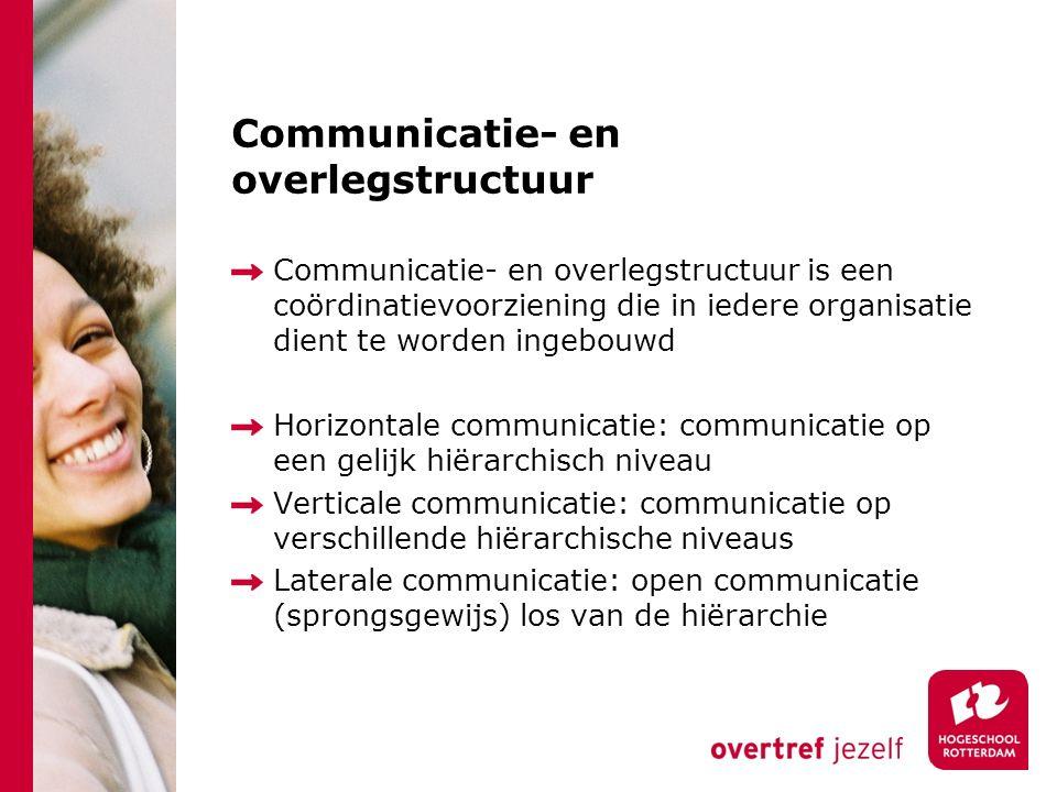 Communicatie- en overlegstructuur
