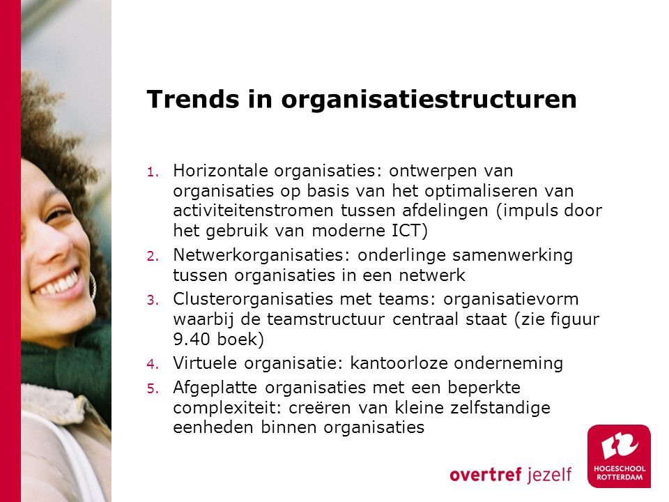 Trends in organisatiestructuren