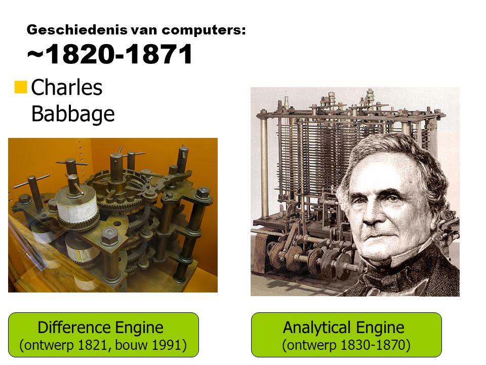 Geschiedenis van computers: ~1820-1871