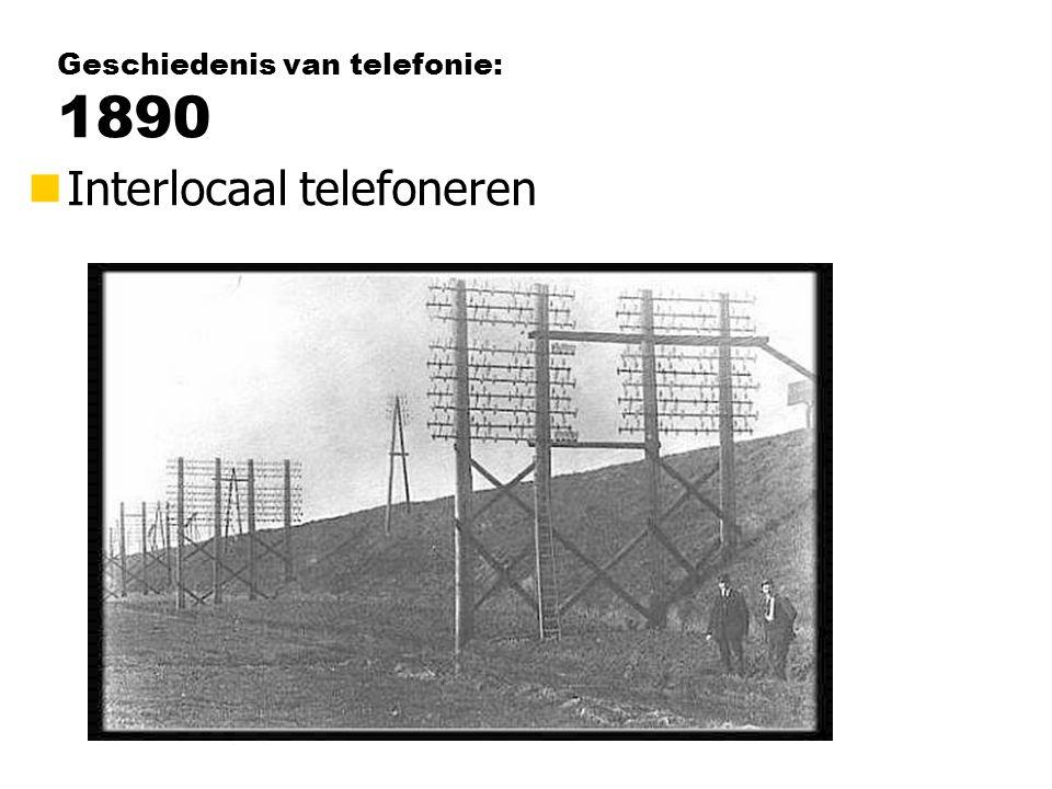 Geschiedenis van telefonie: 1890