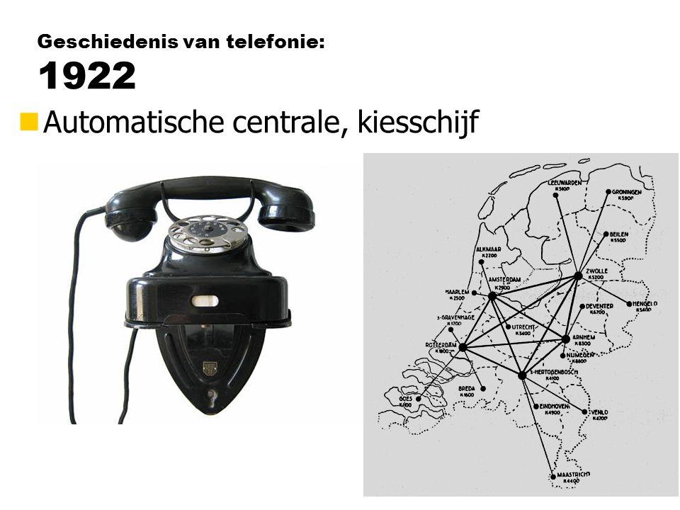 Geschiedenis van telefonie: 1922