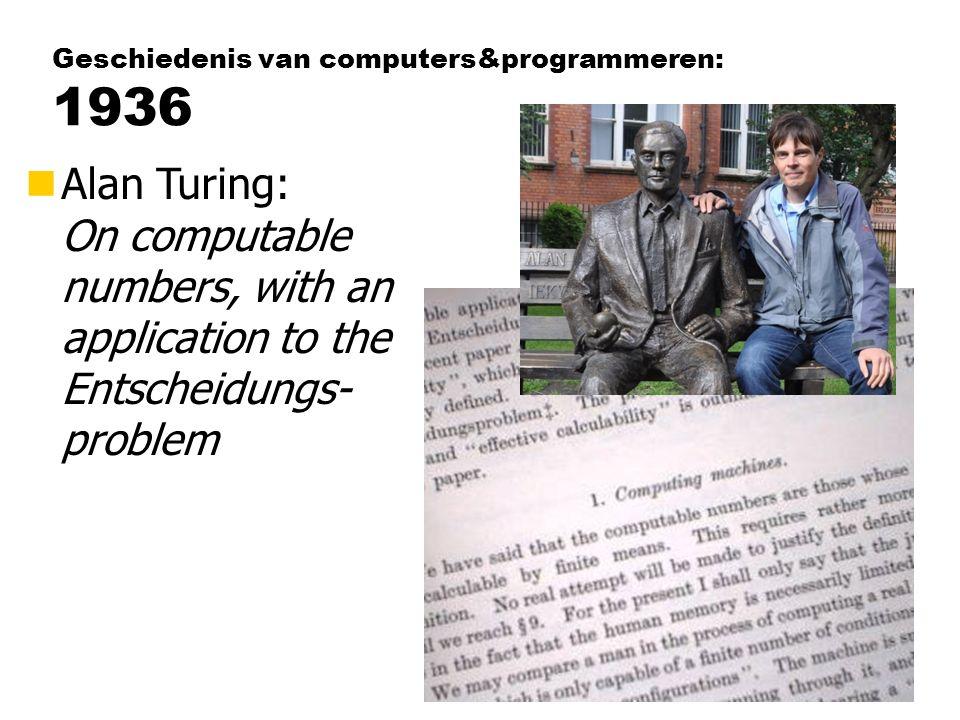 Geschiedenis van computers&programmeren: 1936