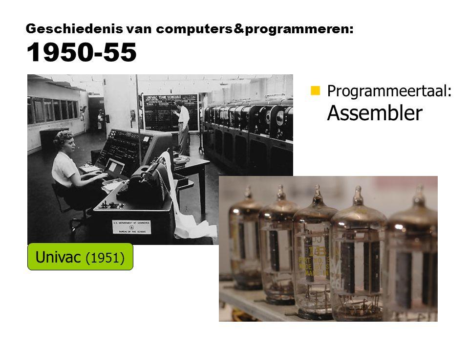 Geschiedenis van computers&programmeren: 1950-55