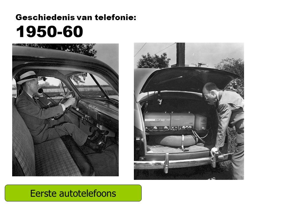 Geschiedenis van telefonie: 1950-60