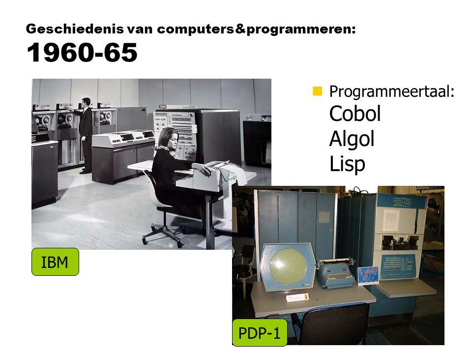 Geschiedenis van computers&programmeren: 1960-65