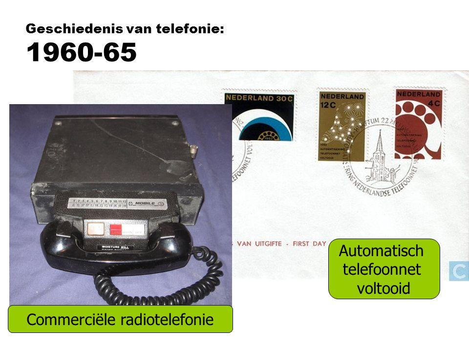 Geschiedenis van telefonie: 1960-65
