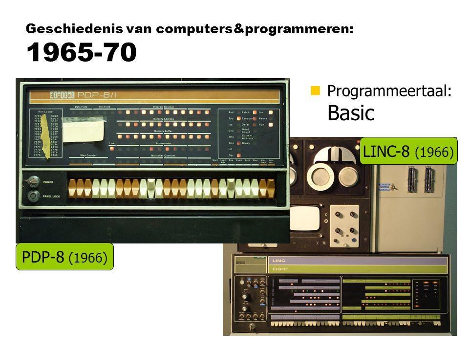 Geschiedenis van computers&programmeren: 1965-70