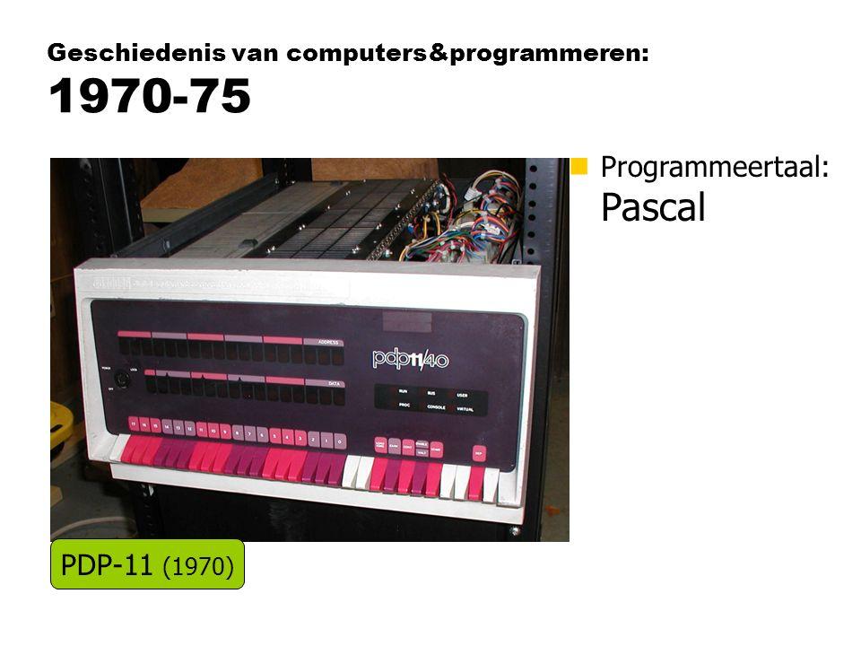Geschiedenis van computers&programmeren: 1970-75