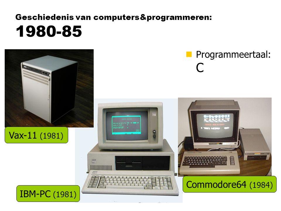 Geschiedenis van computers&programmeren: 1980-85