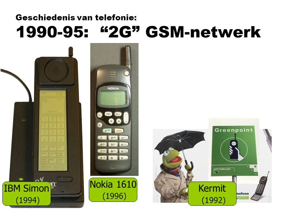 Geschiedenis van telefonie: 1990-95: 2G GSM-netwerk