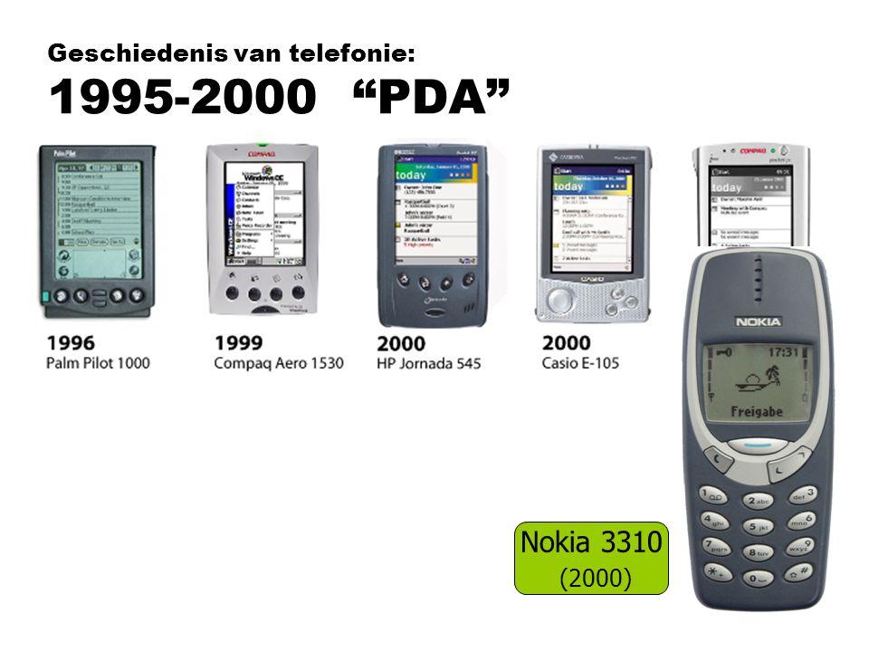 Geschiedenis van telefonie: 1995-2000 PDA