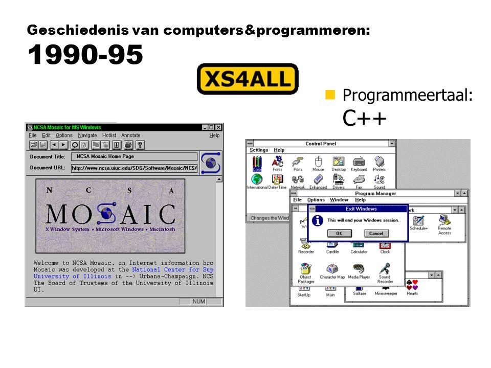 Geschiedenis van computers&programmeren: 1990-95