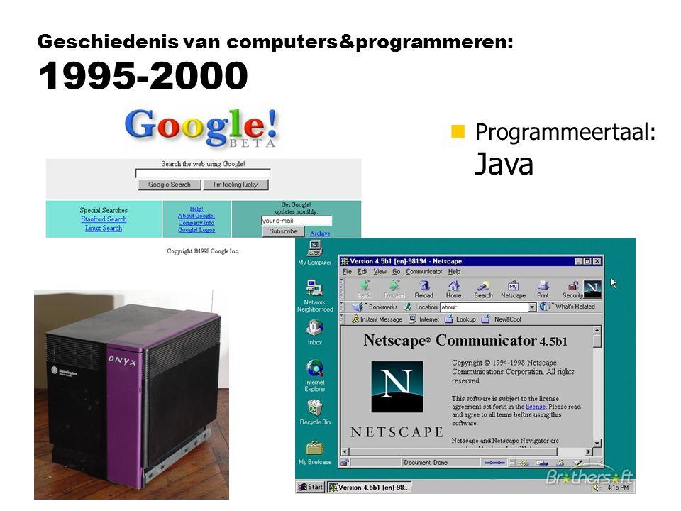 Geschiedenis van computers&programmeren: 1995-2000
