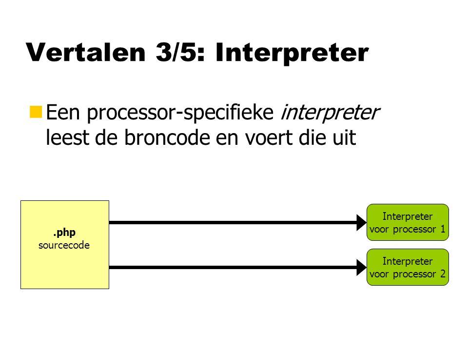 Vertalen 3/5: Interpreter
