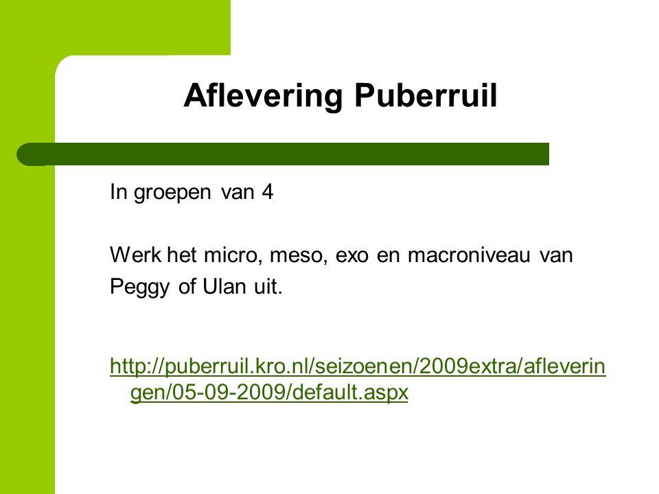 Aflevering Puberruil
