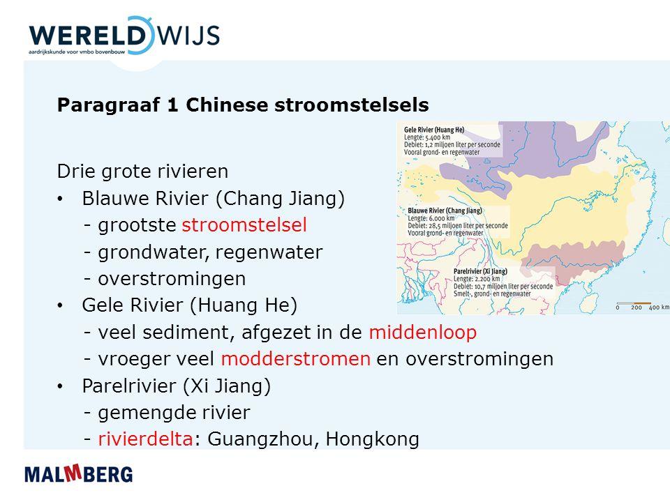 Paragraaf 1 Chinese stroomstelsels