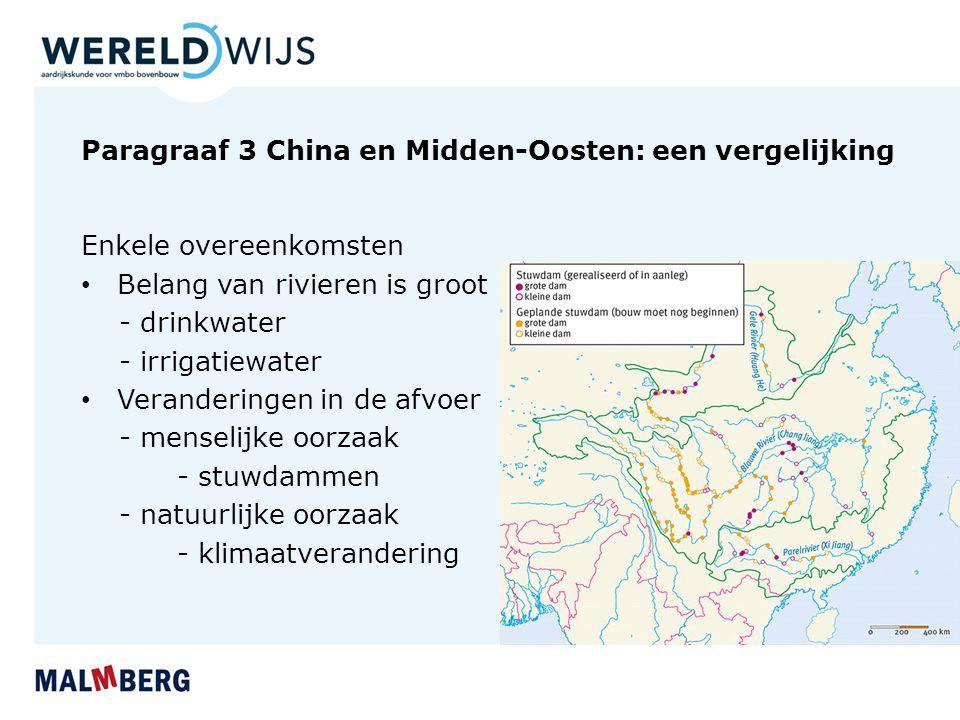 Paragraaf 3 China en Midden-Oosten: een vergelijking
