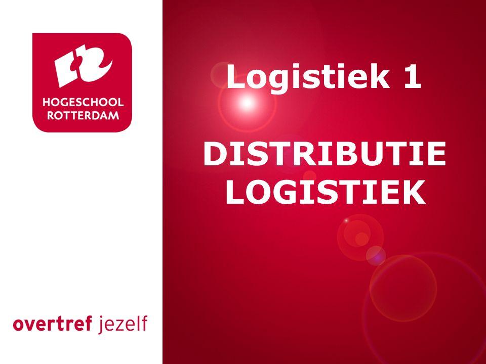 Logistiek 1 DISTRIBUTIE LOGISTIEK Presentatie titel