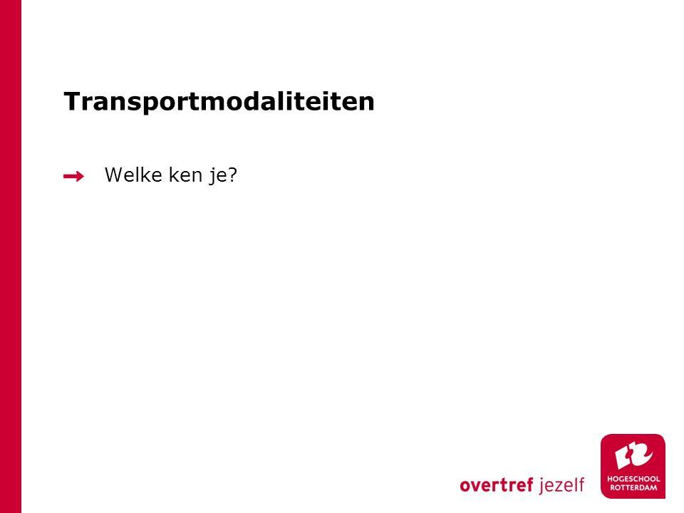 Transportmodaliteiten