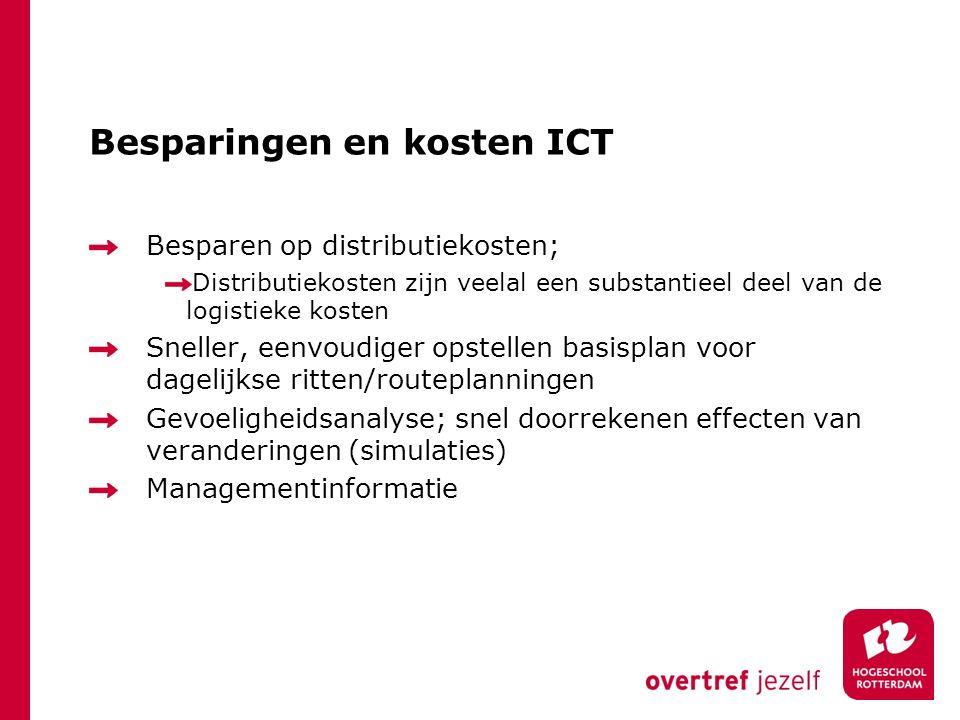 Besparingen en kosten ICT
