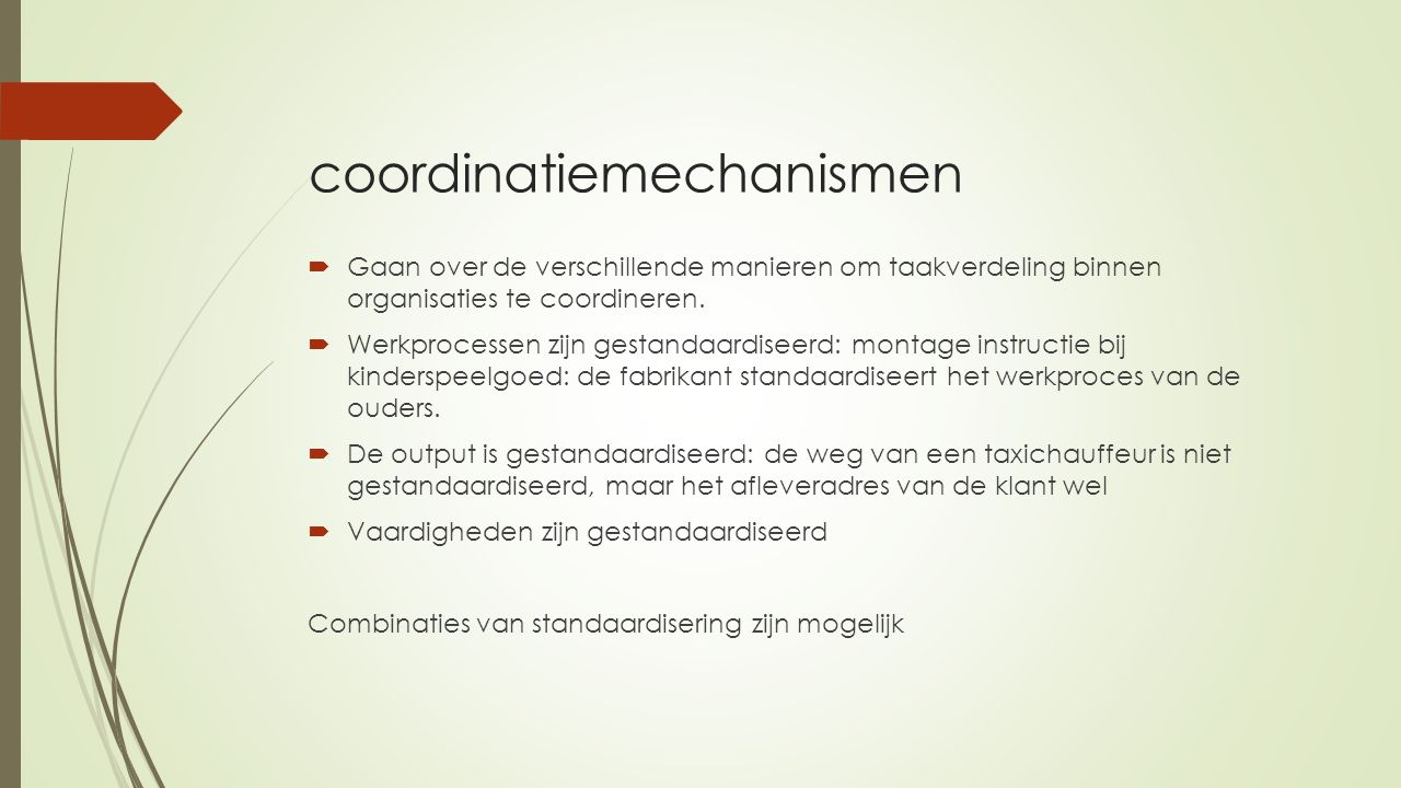 coordinatiemechanismen