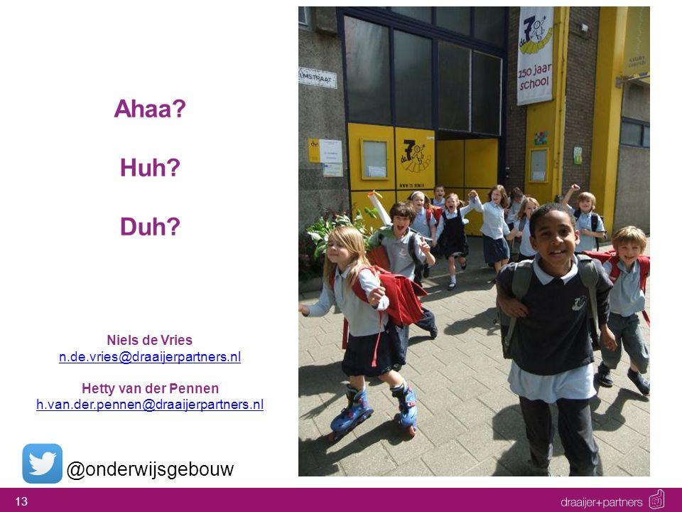 Ahaa Huh Duh @onderwijsgebouw Niels de Vries