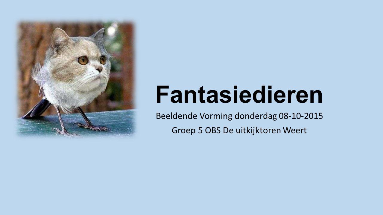 Fantasiedieren Beeldende Vorming donderdag 08-10-2015