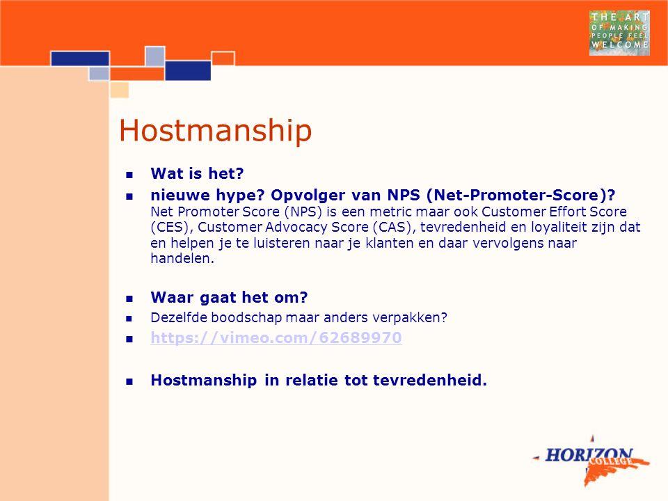 Hostmanship Wat is het