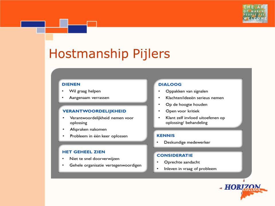 Hostmanship Pijlers