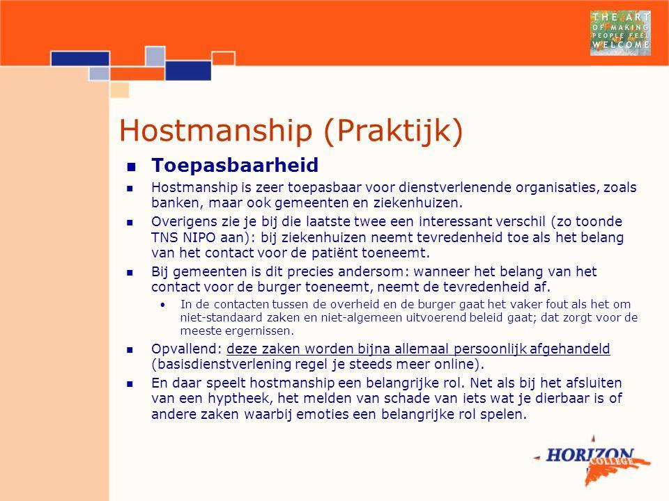 Hostmanship (Praktijk)