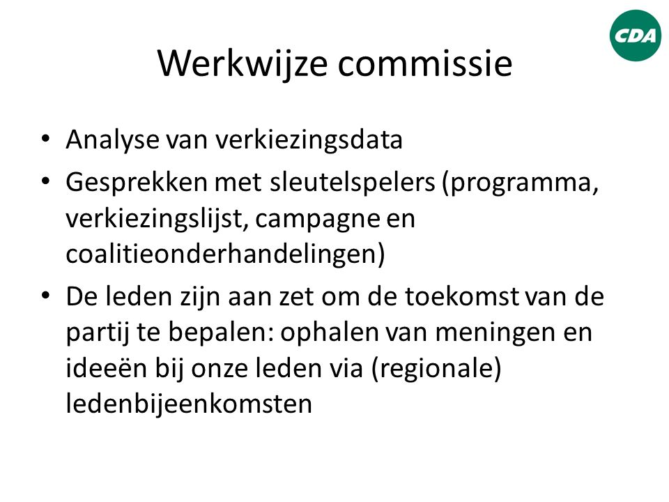 Werkwijze commissie Analyse van verkiezingsdata