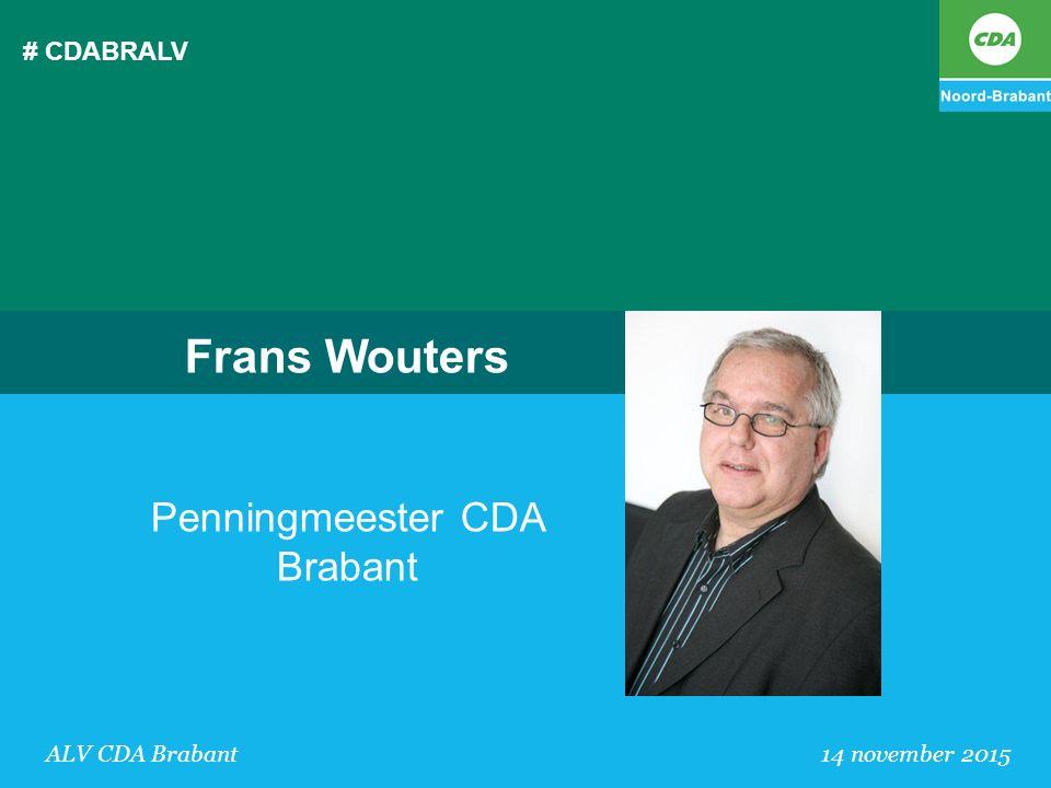 Frans Wouters Penningmeester CDA Brabant # CDABRALV
