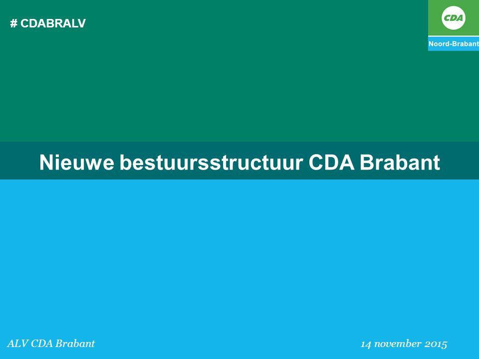 Nieuwe bestuursstructuur CDA Brabant