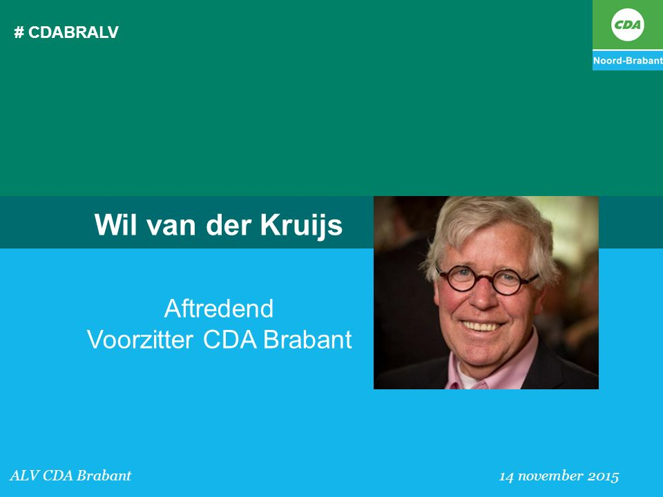 Aftredend Voorzitter CDA Brabant