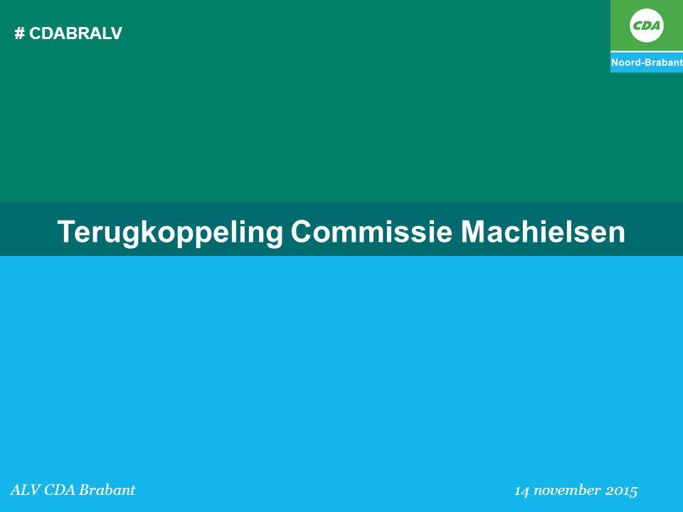 Terugkoppeling Commissie Machielsen