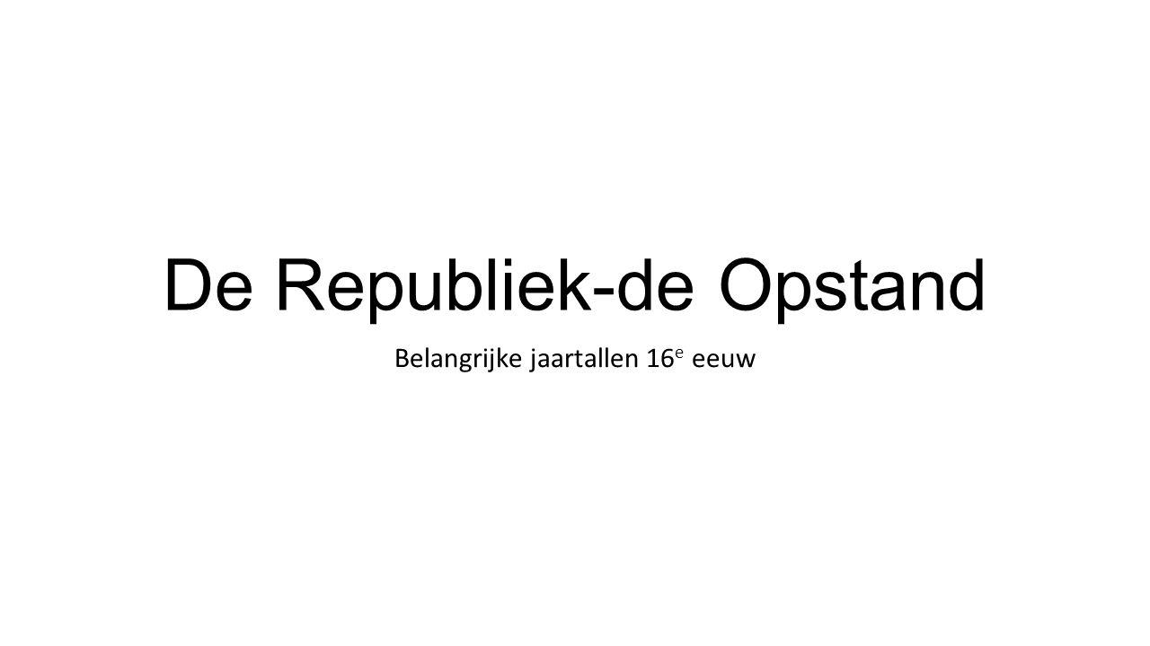 De Republiek-de Opstand